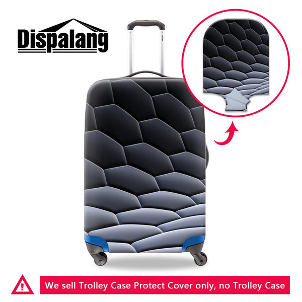 Dispalang hexagon pattern male waterproof travel suitcase cover anti-dust trolley case cover boys stretch elastic baggage cover - 23814