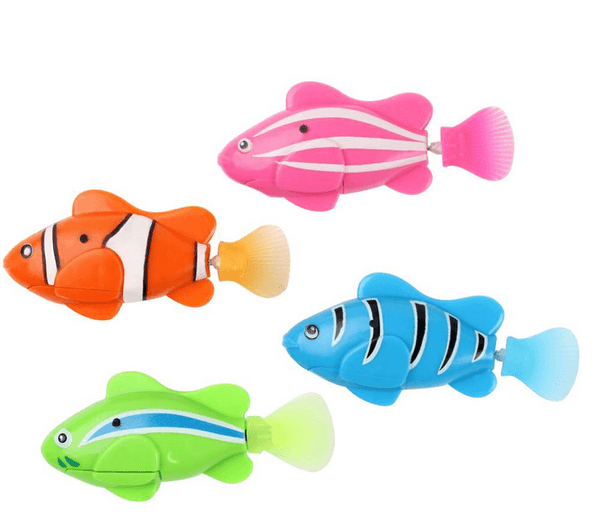 Water Activated Electronic Swimming Fish (Pack of 4)-2919