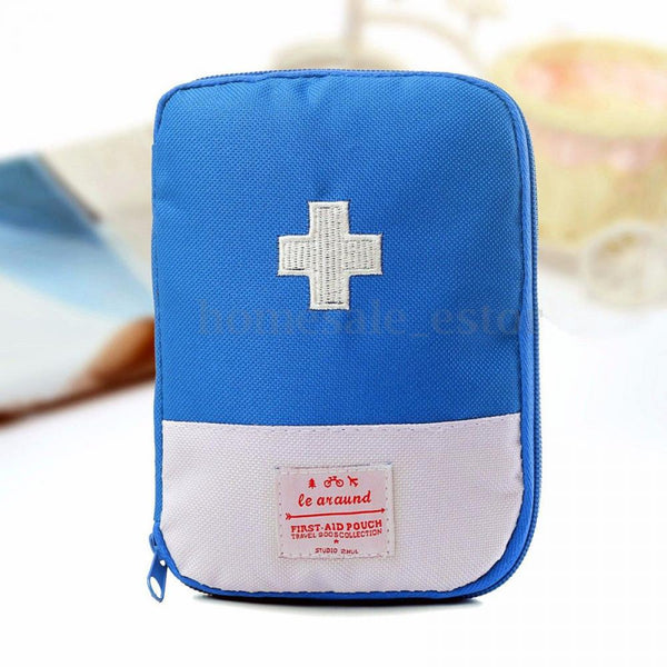 Function Portable First Aid Kit Travel Accessories Emergency Drug Cotton Fabric First Aid Medicine Bag Pill Case Splitters Box - 23760