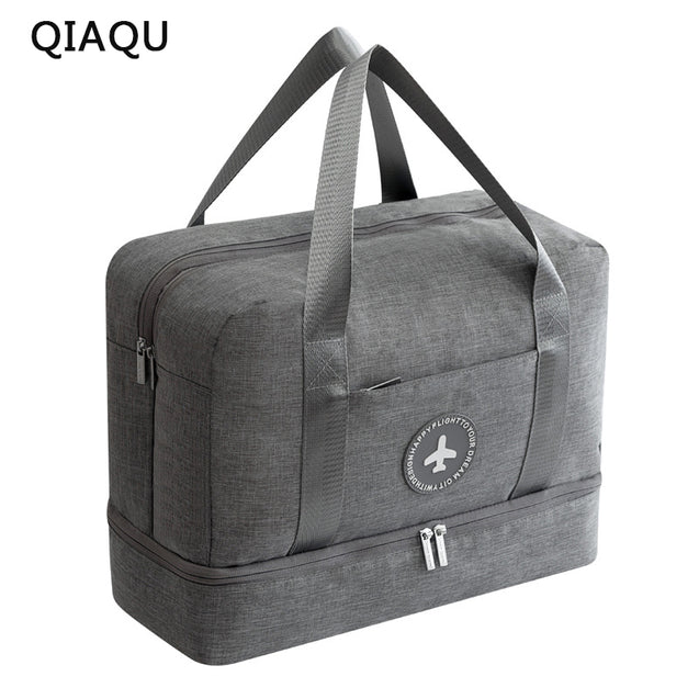 QIAQU 2018 Dry and wet Travel Bag Travel Bags Hand Luggage for Men & Women Fashion Travel Duffle Bags Large bag - 23940