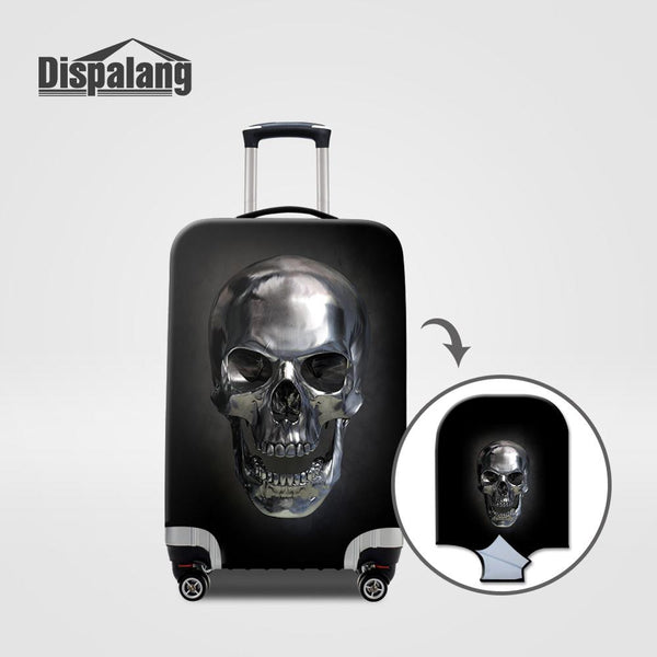 Dispalang Elastic Thickest Luggage Protective Cover for 18-30 Inch Case Skull Print Suitcase Protect Dust Cover Travel Cover - 23730