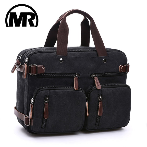 MARKROYAL Canvas Leather Men Travel Bags Hand Luggage Bags Men Duffel Bags Travel Tote Hide The Shoulder Strap Handbags School - 23895