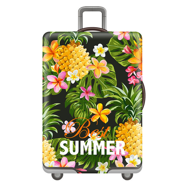 Travel accessories Luggage cover Suitcase protection baggage dust covering Trunk set Thicken Elasticity Bright Flower case cover - 23830