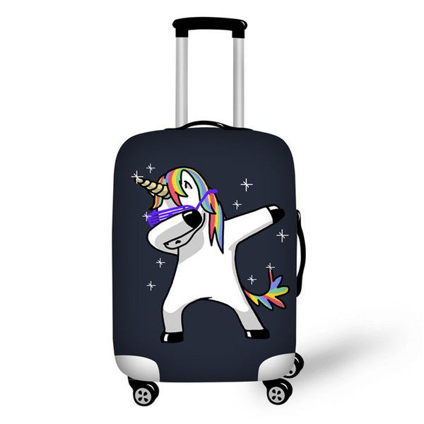 Twoheartsgirl Unicorn Printing Travel Luggage Cover Cartoon Elastic Stretch Protect Dust Cover for 18-30 Inch Suitcase Covers - 23812