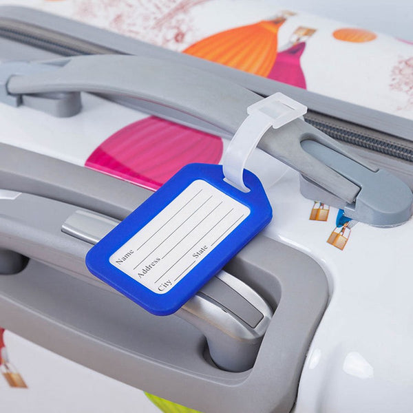 Classic Plastic Luggage Tag Travel Suitcase Baggage Travel Accessorie Mixproof  Boarding Tag Address Label Name ID Tags 6 Color - 23765