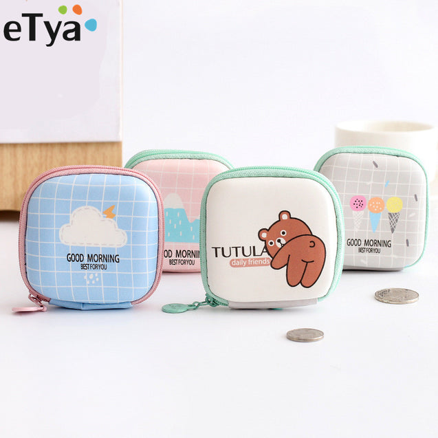 eTya Travel Electronic Phone Data Cuble SD Card USB Cable Earphone Phone Charger Accessories Bags Box Pouch  - 23733