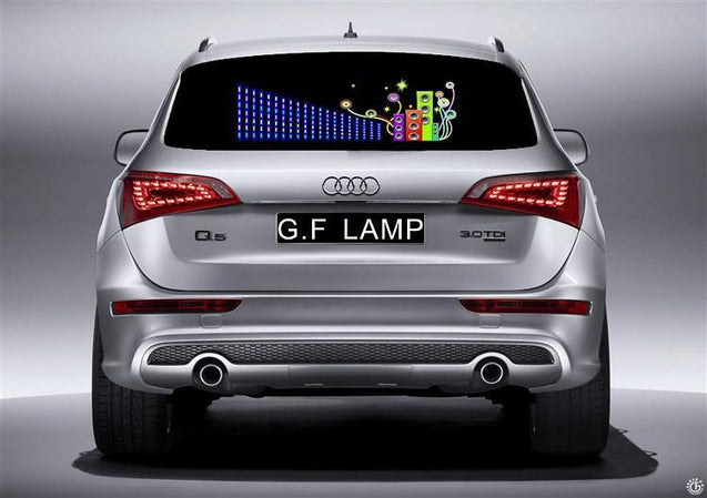Car Music Rythm LED Lights for Rear Window Car Accessories - GlobePanda