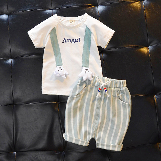100% Cotton T Shirts & Shorts Set For Unisex For Baby