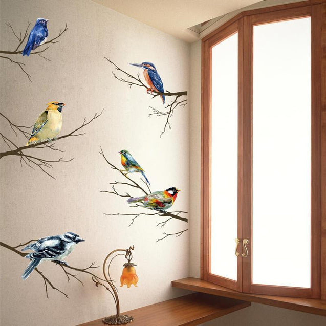 Decorative Art Pastoral Wall Sticker-2581