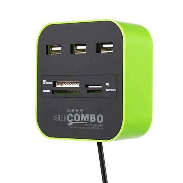 Combo 2.0 Interface USB Converter Extension Hub Computer Hardware - GlobePanda