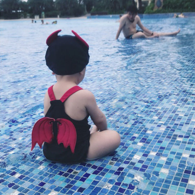 Baby Girl Printed Body Swimsuit