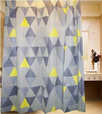 Creative Neutral British Style Waterproof Shower Curtain-2693