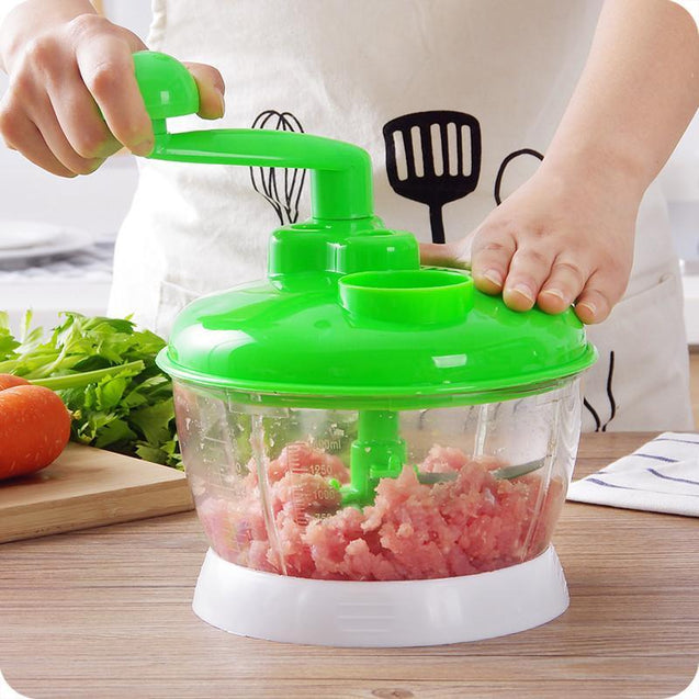grinder, masher, meat, vegetable, fruits, manual, spin, rotational