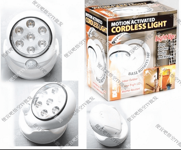 Automatic Rotary Motion Activated LED Light Indoor Lights - GlobePanda