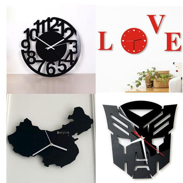 Wall clock, home décor, room, wall mounting, modern, precise, battery, gift