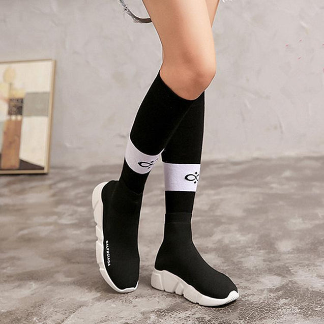 American Cotton Female Knee Socks Knee-High Socks Socks - GlobePanda