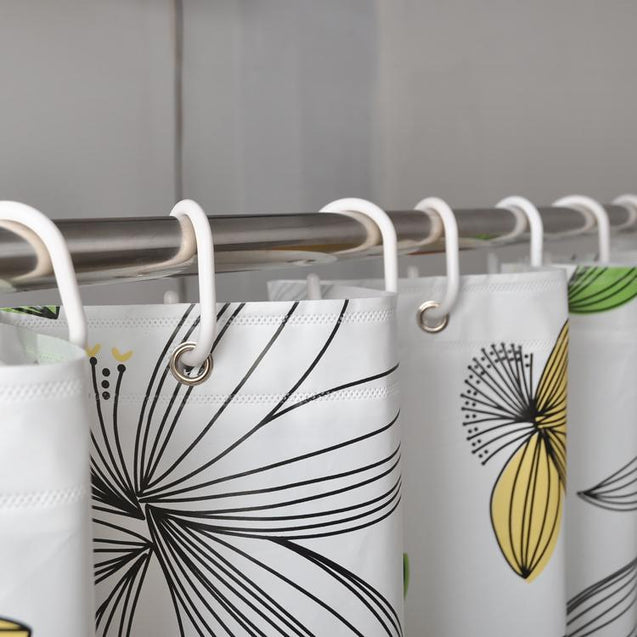 Flower Printed Thick Waterproof Shower Curtain-2704