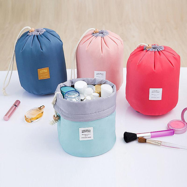Large Capacity Cylindrical Women Cosmetics Bag-1258