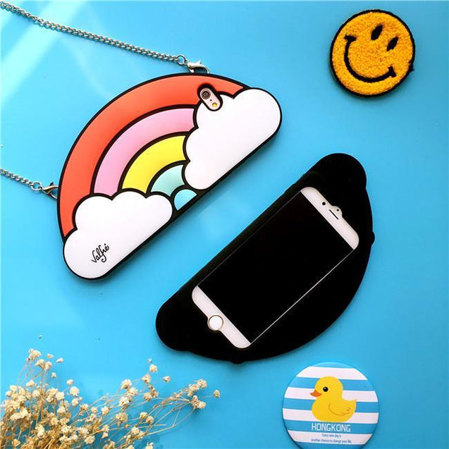 Cartoon Rainbow Drop Resistant iPhone 6S/ 7 Plust Case Phone Cases - GlobePanda