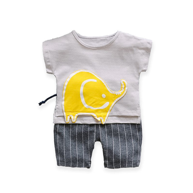 100% Cotton Top & Shorts Sets For Unisex For Baby