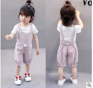 100% Cotton Dungaree Sets Set For Baby Girl