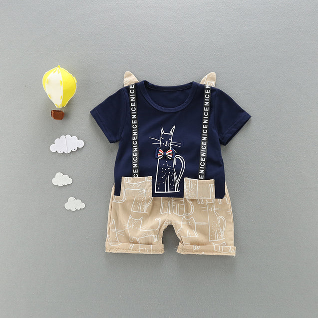 100% Cotton T Shirts & Shorts Sets For Baby Boy