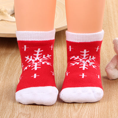 Cotton Unisex Santa Clause Socks (Pack Of 1)