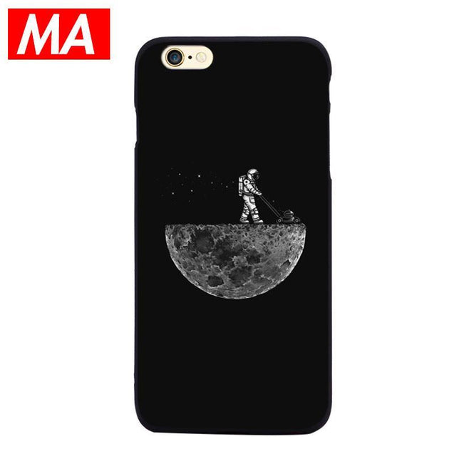 American Illustrator Astronauts iPhone6 / 6S Silicone Case Phone Cases - GlobePanda
