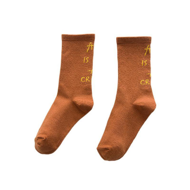 Korean Female Sports Cotton Socks-3081