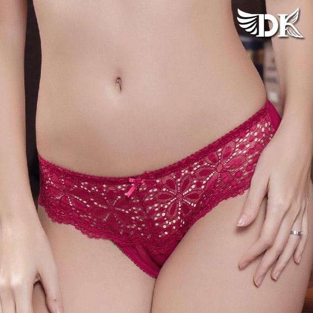 Breathable Low Waist Lace Edged Cotton Panty Panties - GlobePanda