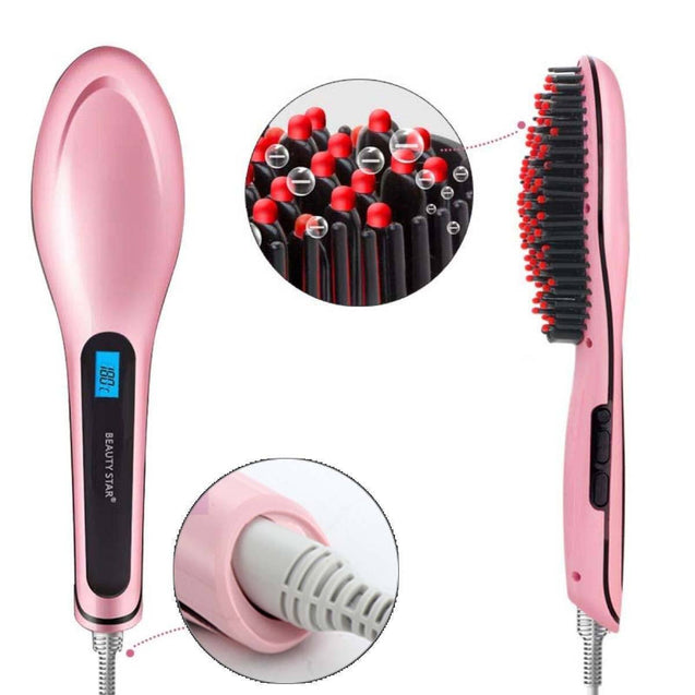 Ceramic Hair Straightening Brush Beauty Appliances - GlobePanda