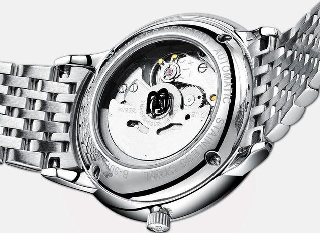 Convex Stainless Steel Mechanical Watch Watches - GlobePanda