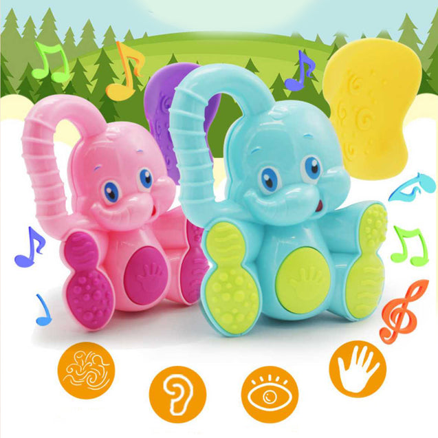 Newborn Baby Cartoon Elephant Rattle -12411
