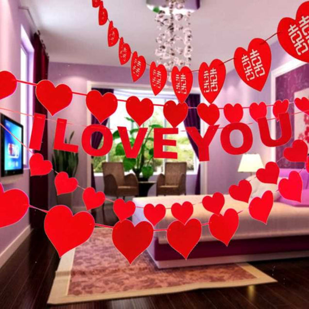 Heart-Shaped I Love You Card String- 13289