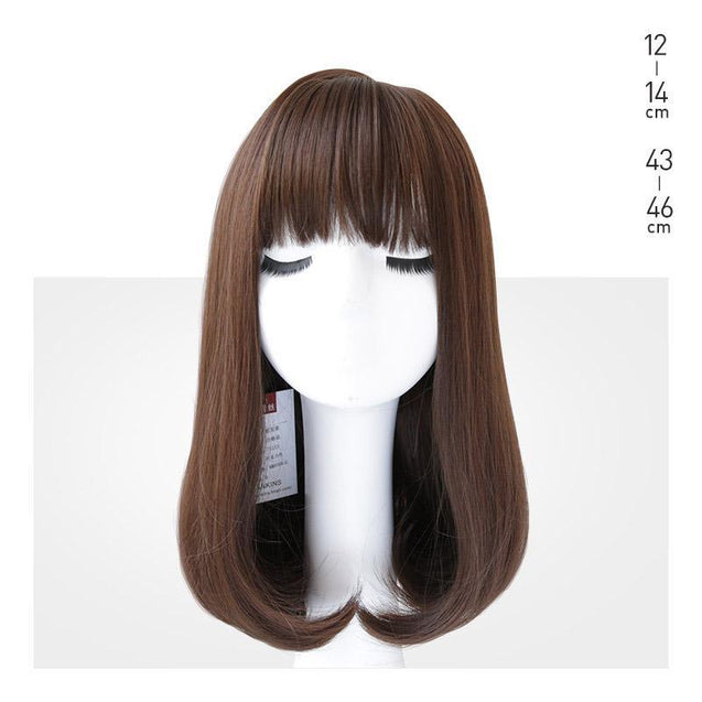 Curled Hair Wig-3451