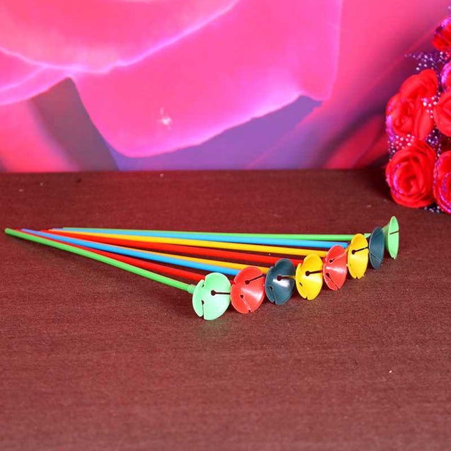 10Pcs/Lot 27Cm Latex Balloon Sticks Colored Rods For Balloons Holder With Cup Party Decoration Accessories -12322