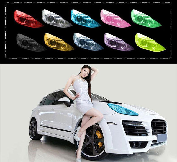 self adhesive, matte, vinyl, car head light, backlight, film, car accessory, modification