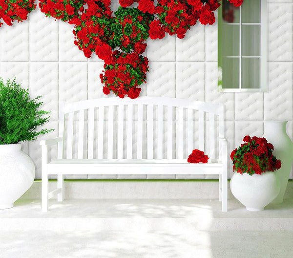 Diy Stick-On 3D Upholstered Wall Sticker-3210