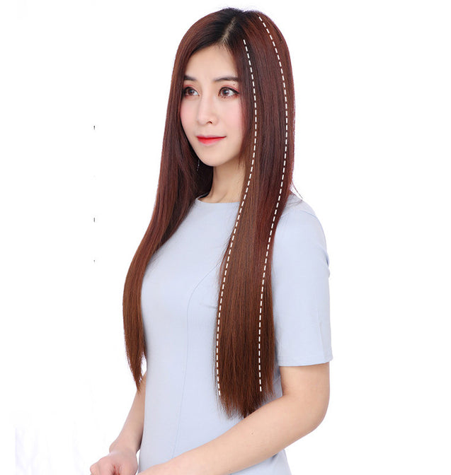 Invisible Long Straight Natural Hair Extension Wig - 3469