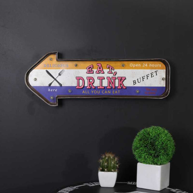 Wall-Decoration American Retro Billboard Led Light- 14499