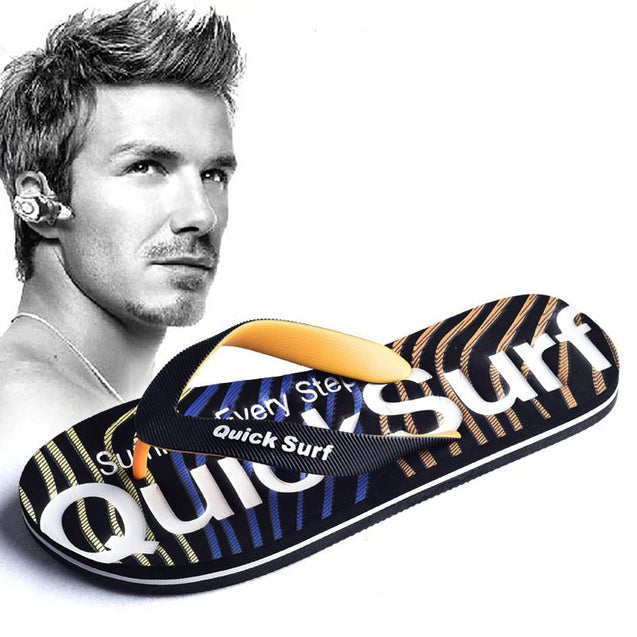 Lightweight Printed Breathable Flip Flops With Flexible Sole