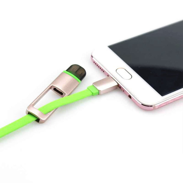 USB Data Cable for Hassle-Free Charging and Transfer (2-in-1 Head, Apple and Android)-6441