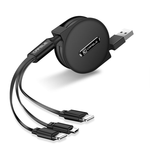 Cafele  3-1 Retractable Fast Charging Data Cable-14046