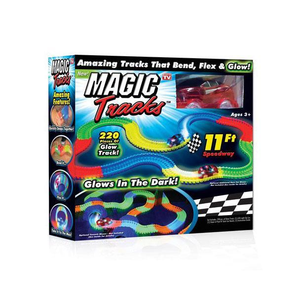 toy, game, car, track, luminous, flexible, children, kids