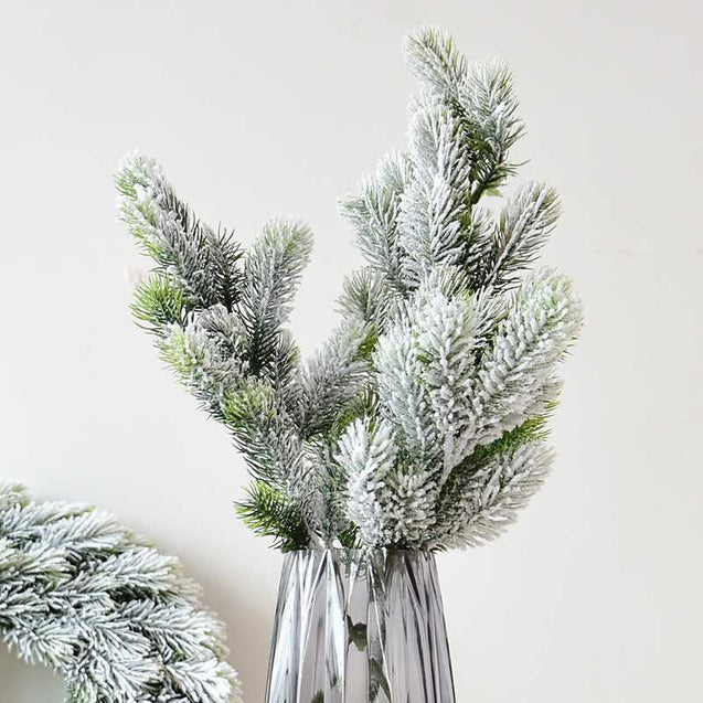Falling Snow Pine Branch Christmas Tree Decoration Accessories - 12949