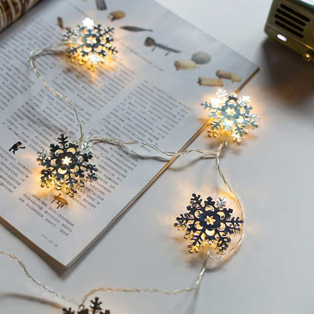 Creative Snowflake Style Led Lights String- 12711