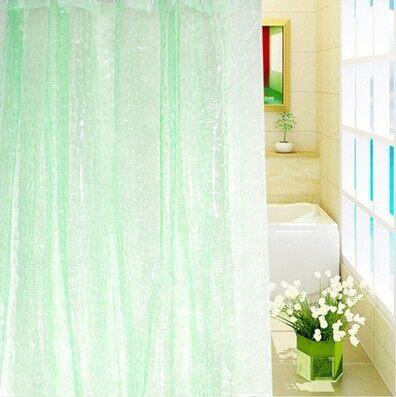 3D Waterproof Mildew Thick Translucent Shower Curtain Curtains