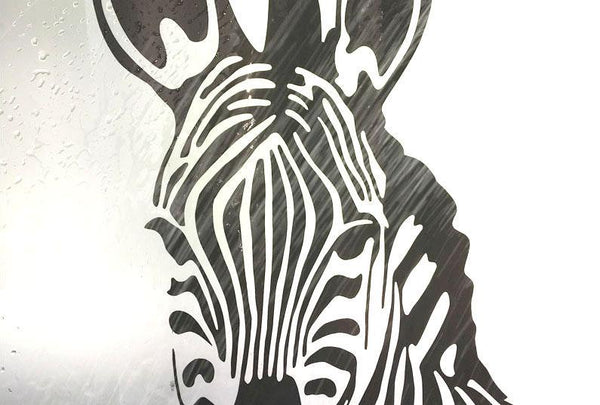 Zebra Printed EVA Thick Waterproof Shower Curtain-2691