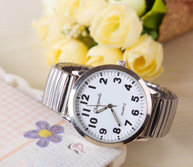 Authentic Waterproof Steel Quartz Watch- 3888