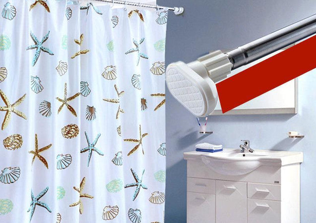 Star Fish and Sea Shell Printed Thick Waterproof Shower Curtain-2722